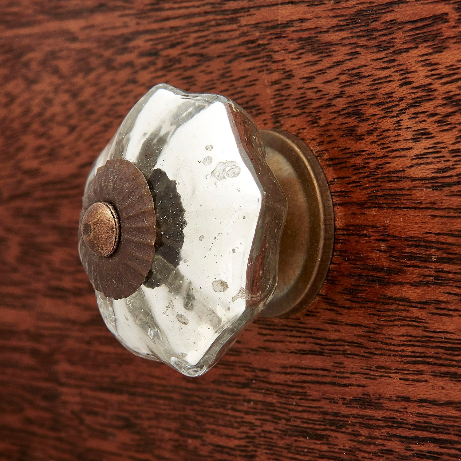 Antique Silver Mercury Glass Knobs Cabinet Pulls Pack Of 6 On Sale Overstock 12343190