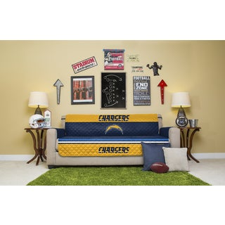 Licensed NFLSan Diego Chargers Polyester Sofa Protector