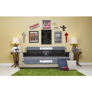 Licensed NFLOakland Raiders Sofa Protector