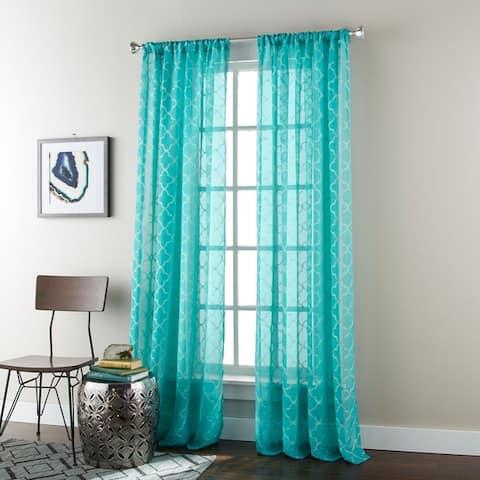 Grand Avenue Jule 54 x 84-inch Rod-pocket Single Curtain Panel