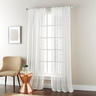 Nanshing Jess 54 x 84-inch Rod-pocket Single Curtain Panel (4 options available)