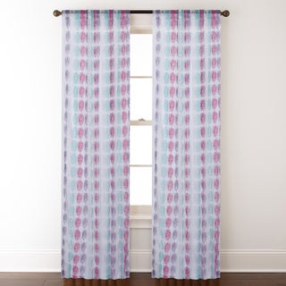 Cleo Multicolored Rod Pocket 84-inch Curtain Panel