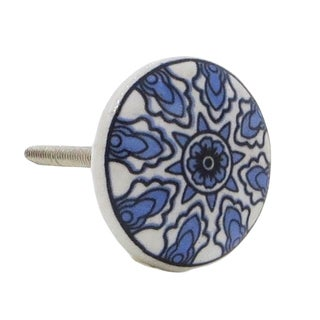 Blue Star Pattern Kitchen Drawer, Dresser Drawer, and Cabinet Pull Knob (Pack of 6)