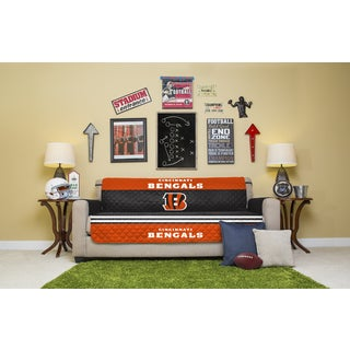 Licensed NFL Cincinatti Bengals Multicolored Polyester Licensed Sofa Protector