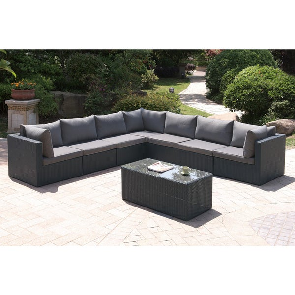 shop arinsal 7 piece patio sectional sofa free shipping today 12343250. Black Bedroom Furniture Sets. Home Design Ideas