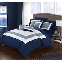 Porch & Den Courtney Navy 10-piece Bed in a Bag
