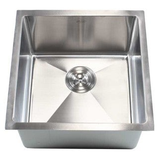 18-inch 15-millimeter Radius Stainless Steel Single-bowl Undermount Kitchen Island/Bar Sink