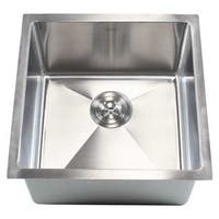 18-inch 15-millimeter Radius Stainless Steel Single-bowl Undermount Kitchen Island/Bar Sink