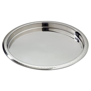 Heim Concept Hammered Border Stainless Steel Serving Tray