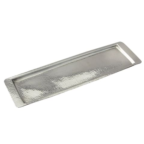 """Heim Concept Stainless Steel Hammered Rect Tray 17.75""""L x 5.5"""" W"""