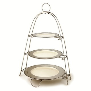 Elegance Stainless Steel 3 Tier Stand with Plates