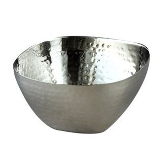 """Elegance Stainless Steel Hammered Square Bowl 10"""""""