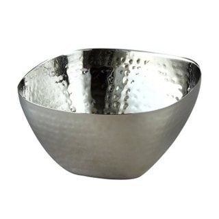 Elegance Stainless Steel Hammered Square Bowl 8""