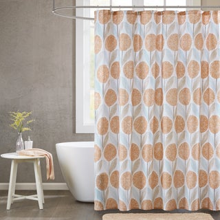 Urban Habitat Stella Cotton Printed Shower Curtain 2-Color Option