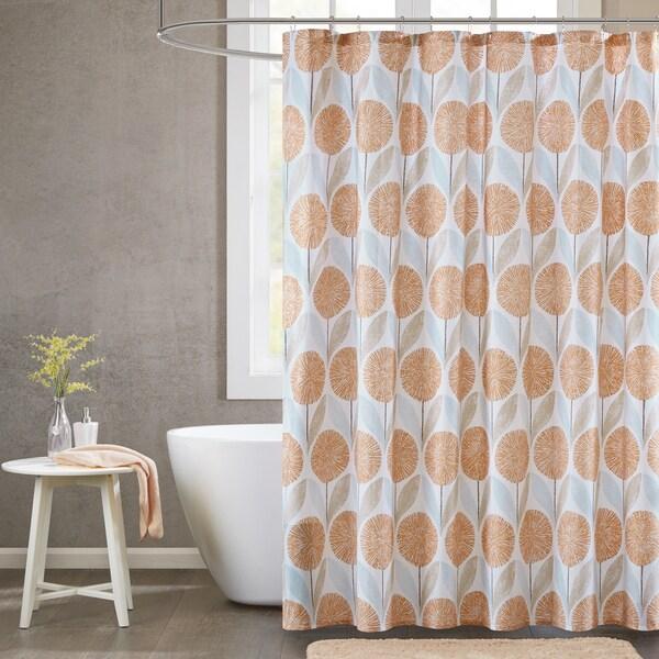 Urban Habitat Stella Cotton Printed Shower Curtain 2-Color Option