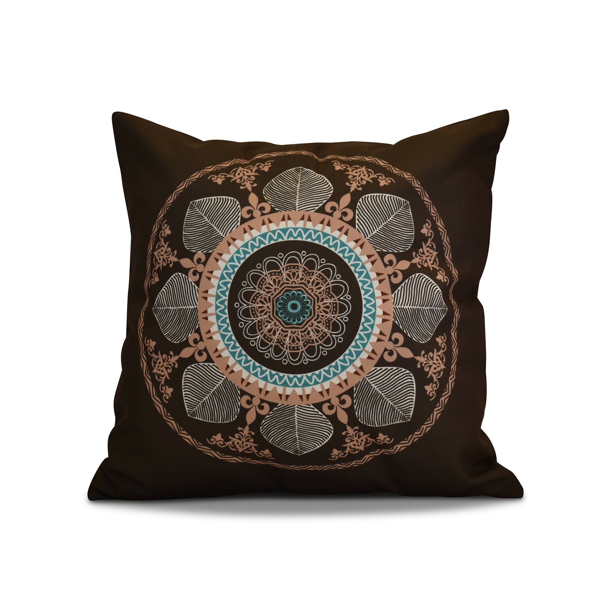 26 x 26-inch Stained Glass Geometric Print Pillow (Grey)