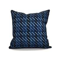 26 x 26-inch Mad for Plaid Geometric Print Pillow