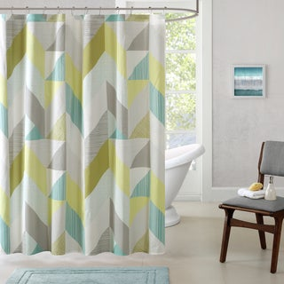 Urban Habitat Parker Cotton Printed Shower Curtain 2-Color Option