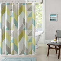 Urban Habitat Parker Cotton Printed Shower Curtain 2-Color Option
