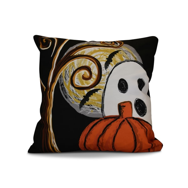 26 x 26-inch Ooky Spooky Geometric Print Pillow