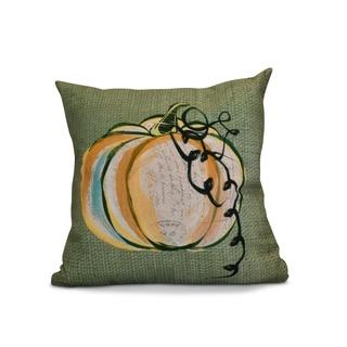 26 x 26-inch Pumpkin Fest Geometric Print Pillow