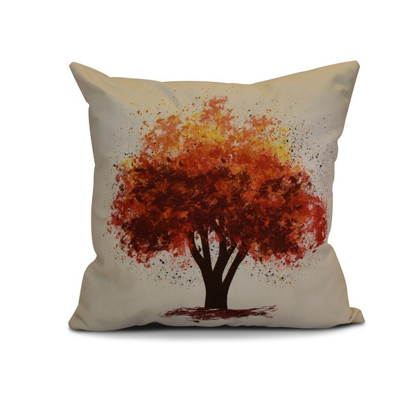 26 x 26-inch Fall Bounty Floral Print Pillow
