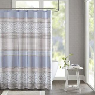 Urban Habitat Clarice Cotton Printed Shower Curtain 2-Color Option