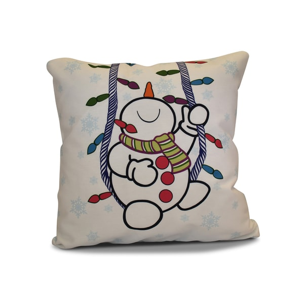 26 x 26-inch Winter Whimsy Geometric Holiday Print Pillow