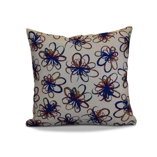 26 x 26-inch Penelope Floral Holiday Print Pillow