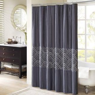 Madison Park Julien Embroidered Shower Curtain 2-Color Option