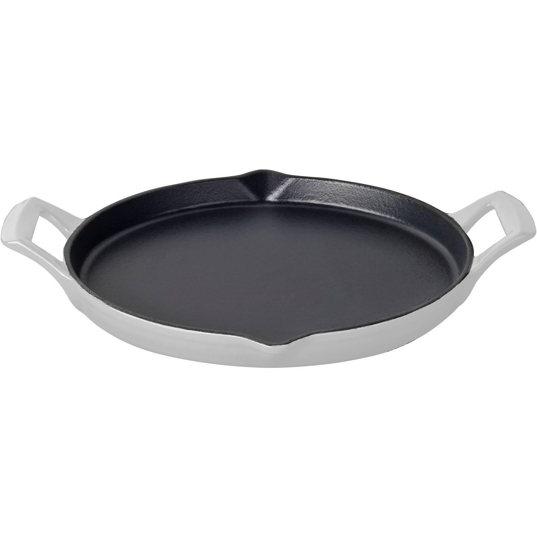 LaCuisine La Cuisine White Enamel/Cast Iron 12-inch Round...
