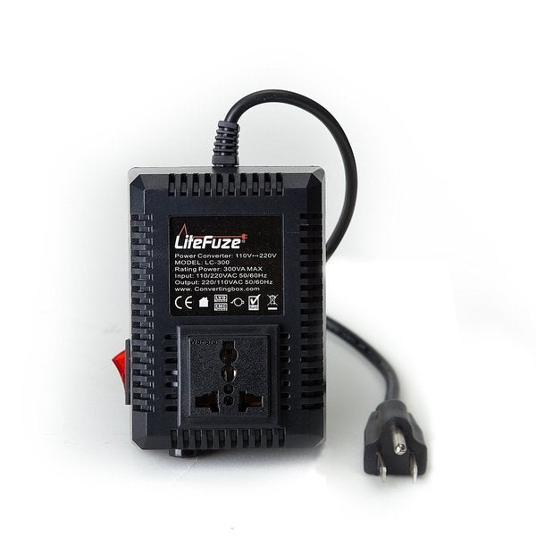 Shop LiteFuze LC-300US 300-watt Step-up/down Travel Voltage ...