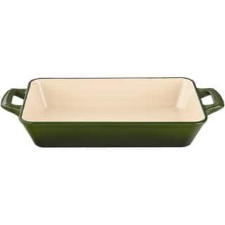 La Cuisine Green Medium Cast Iron Roasting Pan with Enamel Finish|https://ak1.ostkcdn.com/images/products/12343515/P19172824.jpg?impolicy=medium