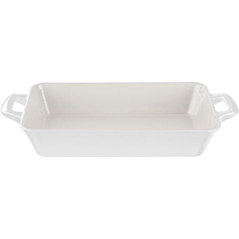 La Cuisine White Enamel Finish Cast Iron Small Deep Roasting Pan