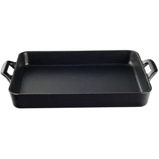 La Cuisine Black Enamel/Cast Iron Shallow Roasting Pan