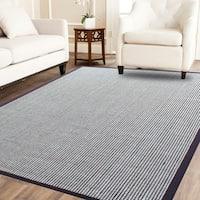Power-loom Wool Flat Boucle Coffee Brown/Ivory Sisal Wool Rug - 4' x 6'