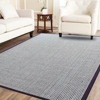 Power-loom Wool Flat Boucle Coffee Brown/Ivory Sisal Wool Rug - 8' x10'