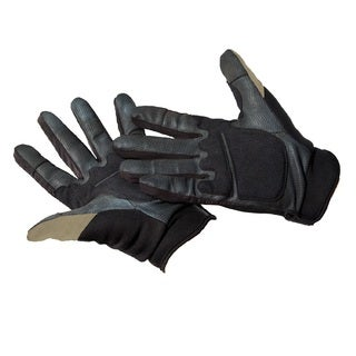 Caldwell Ultimate Black and Tan Nylon Shooting Gloves