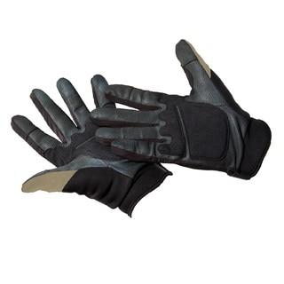 Caldwell Ultimate Black and Tan Nylon Shooting Gloves