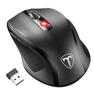 Black 6-button 2,400-DPI 2.4G Wireless Mouse with Nano Receiver, 15-month Battery Life, and 5 Adjustable Levels|https://ak1.ostkcdn.com/images/products/12343580/P19172978.jpg?impolicy=medium