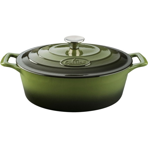 La cuisine pro green enamel finish and cast for Art cuisine cookware reviews