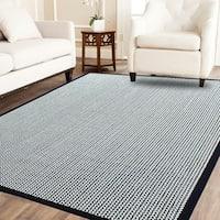 Power-loom Herringbone Kari/Cream Sisal Wool Rug(5'X8')
