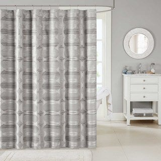 Madison Park Matteo Jacquard Shower Curtain 2-Color Option