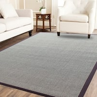 Boucle Sahara Sisal Rug With CH Brown Border - 5' x 8'