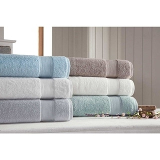 Somette Silver Collection Ultra Soft 6 piece Turkish Cotton Towel Set