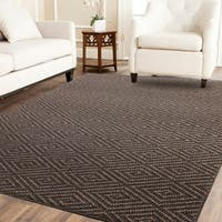 Chunky Jacquard Sisal Rug with Serged Border - 5' x 8'