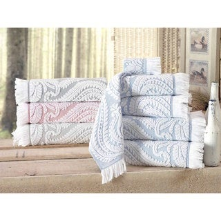 Link to Laina Turkish Cotton Hand Towel (Set of 8) - 16x28 inches Similar Items in Towels