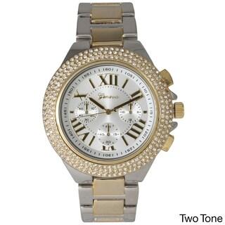 Olivia Pratt Rhinestone Roman Numeral Boyfriend Watch (Option: Two Tone)