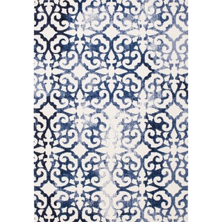 Christopher Knight Home Sinora Bekkah Blue Geometric Rug (8' x 10')