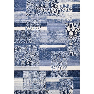 Christopher Knight Home Sinora Veronique Blue Geometric Rug (8' x 10')